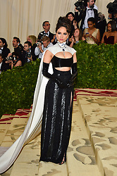 Eiza Gonzalez attending the Costume Institute Benefit at The Metropolitan Museum of Art celebrating the opening of Heavenly Bodies: Fashion and the Catholic Imagination. The Metropolitan Museum of Art, New York City, New York, May 7, 2018. Photo by Lionel Hahn/ABACAPRESS.COM