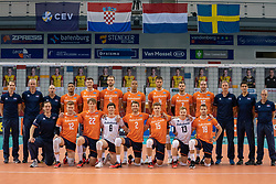 Teamphoto Netherlands during the CEV Eurovolley 2021 Qualifiers between Sweden and Netherlands at Topsporthall Omnisport on May 14, 2021 in Apeldoorn, Netherlands