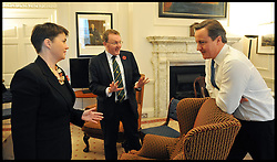 The Prime Minister David Cameron meets the Leader of the Scottish Conservative Party Ruth (left) Davidson in his office in No10, London, UK, Monday  November 7, 2011. Photo By Andrew Parsons/ i-Images.