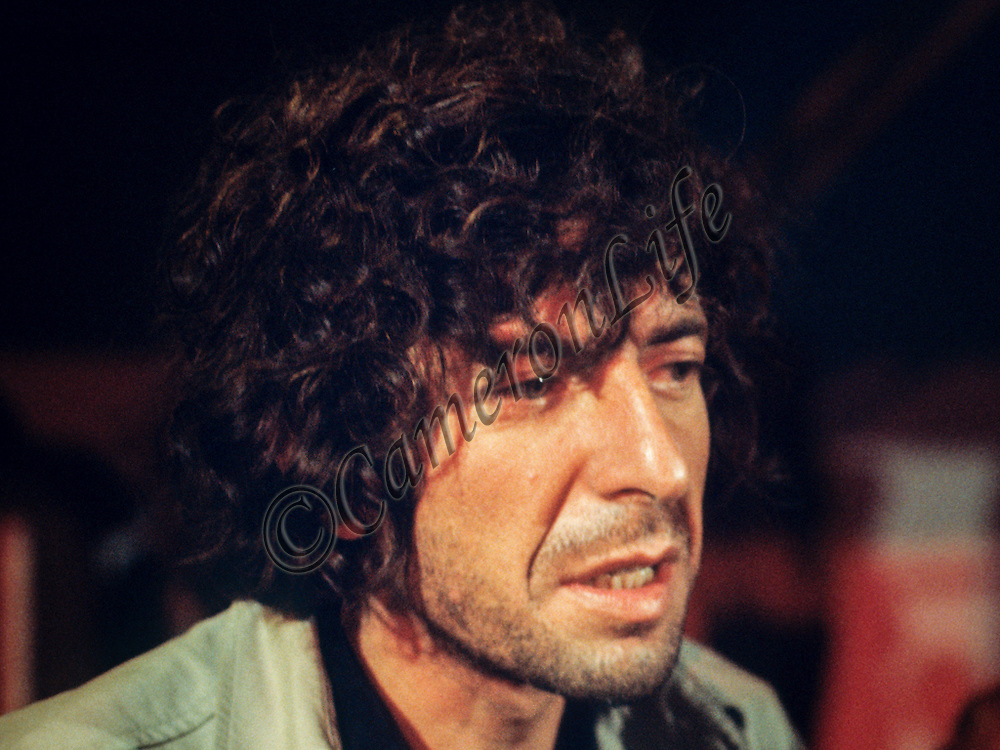 Leonard Cohen - Isle of Wight Music Festival 1970, by Charles Everest