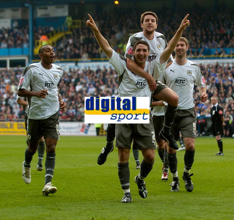 Photo: Jed Wee/Sportsbeat Images.<br /> Carlisle United v Bristol City. Coca Cola League 1. 21/04/2007.<br /> <br /> Bristol City celebrate with Bradley Orr.