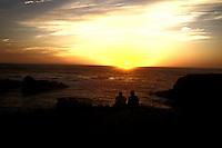 Enjoying a sunset on the Mendocino Headlands, Mendocino Northern California
