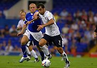 Photo: Daniel Hambury.<br />Ipswich Town v Lazio. Pre Season Friendly. 28/07/2006.<br />Ipswich's Matt Richards and Lazio's Goran Pandev battle.