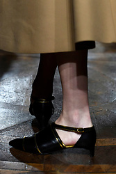 Models on the catwalk for the Mila Schon fashion show during Milan Fashion Week