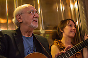 Peter Yarrow, of Peter, Paul and Mary fame, waits to go on stage at the Folk City benefit concert. The concert was held to support a forthcoming exhibit on the folk msusic revival in New York in the 1950s and 60s.