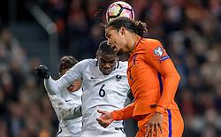 10-10-2016 NED: WK kwalificatie Nederland - Frankrijk, Amsterdam<br /> Nederland verliest met 1-0 van Frankrijk / Virgil van Dijk #4
