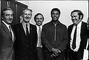 12/07/1972<br /> 07/12/1972<br /> 12 July 1972<br /> Muhammad Ali meets Taoiseach Jack Lynch at Leinster House, Dublin. Included are Deputies from Cork Tom Meaney, Flor Crowley and Sean Brosnan.