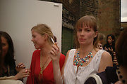 Flora Fairbairn, Rose Russell. Rachel Kneebone private view. Madder Rose. Whitecross St. London EC1 22 June 2006. -DO NOT ARCHIVE-© Copyright Photograph by Dafydd Jones 66 Stockwell Park Rd. London SW9 0DA Tel 020 7733 0108 www.dafjones.com