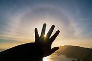22-degree arc over the headlands at Point Reyes National Seashore, Marin County, California