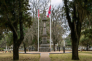 Obelisk commemorating the Confederate Dead and inscribed with the name of Jefferson Davis