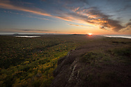 An autumn sunset from Brockway Mountain <br /> Copper Harbor, Michigan