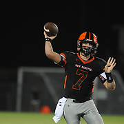 New Hanover High School's Ward Coleman throws against Wilson Hunt Friday September 5, 2014 in Wilmington, N.C. (Jason A. Frizzelle)