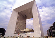 The Grande Arche de la Défense in the commune of Puteaux, or business district of Paris, France