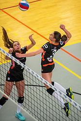 02-02-2019 NED: Regio Zwolle Volleybal - Sliedrecht Sport, Zwolle<br /> Round 16 of Eredivisie volleyball - Sliedrecht win the match 3-2 / Marije Neuman #3 of Zwolle