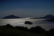 The beach and Mediterranean Sea, Cape Sounion, Attica, Greece
