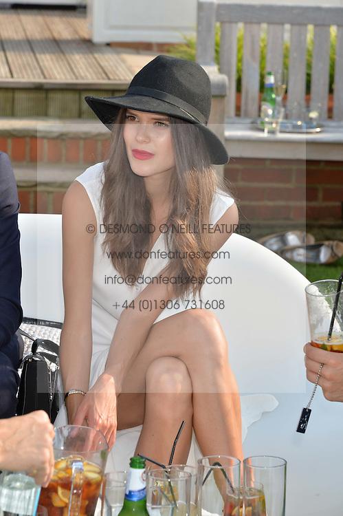 SARAH ANN MACKLIN at the Audi International Polo at Guards Polo Club, Windsor Great Park, Egham, Surrey on 26th July 2014.