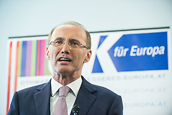 26.05.2014, OeVP Bundespartei, Wien, AUT, OeVP, Pressekonferenz nach Vorstandssitzung der OeVP Bundespartei. im Bild OeVP Spitzenkandidat zur EU-Wahl Othmar Karas // OeVP Topcandidate for EU-Election Othmar Karas during press conference after board meeting of OeVP at federal party of OeVP in Vienna, Austria on 2014/05/26. EXPA Pictures © 2014, PhotoCredit: EXPA/ Michael Gruber