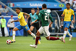 July 2, 2018 - Samara, Vazio, Russia - Neymar da Silva Santos Jr.  of Brasil during a game between Brazil and Mexico valid for the octaves of finals of the World Cup of 2018, held in Arena Samara, Russia (Credit Image: © Thiago Bernardes/Pacific Press via ZUMA Wire)