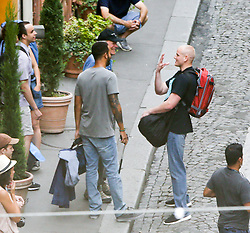 EMBARGOED FOR WEB AND APPS IN FRANCE UNTIL SEPTEMBER 7, 2017 - Exclusive - Clint Eastwood during the filming of his new film about Thalys Train terrorist attack 'The 15:17 to Paris' in Paris, France on August 23, 2017. The movie will follow the lives of the three men Anthony Sadler, Alek Skarlatos ( not on the set today) and Spencer Stone leading up to August 2015, when the trio successfully stopped an alleged ISIS terrorist from launching a gun attack on a high-speed train traveling from Amsterdam to Paris. Photo by ABACAPRESS.COM