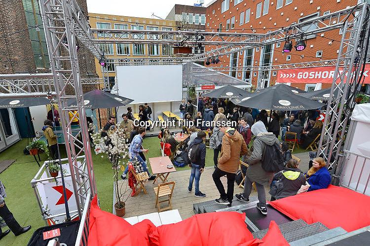 Nederland, Nijmegen, 7-4-2017 Go Short filmfestival bij filmhuis Lux op het Marienburg. het is een internationaal filmfestival voor korte films, minder als 10 minuten. Foto: Flip Franssen