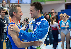 Farewell of Slovenian athlete Aljaz Pegan (at picture with Alen Dimic) at his last competition in his sports career during Slovenian Gymastics Cup 2013 on June 2, 2013 in GIB arena, Ljubljana, Slovenia. (Photo By Vid Ponikvar / Sportida)