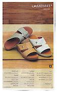 Fares Sandals news paper add