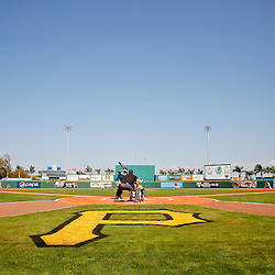 February 25, 2011; Bradenton, FL, USA; A general view during a spring training exhibition game between the Pittsburgh Pirates and the State College of Florida Manatees at McKechnie Field. The Pirates defeated the Manatees 21-1. Mandatory Credit: Derick E. Hingle-US PRESSWIRE