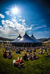 """Goldenvoice Arena. Sunday, Rockness 2013, the annual music festival which took place in Scotland at Clune Farm, Dores, on the banks of Loch Ness, near Inverness in the Scottish Highlands. The festival is known as """"the most beautiful festival in the world""""."""