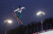 Antti-Jussi Kemppainen of Finland competes in qualifying for the men's ski halfpipe at Rosa Khutor Extreme Park during the Winter Olympics in Sochi, Russia, Tuesday, Feb. 18, 2014. (Brian Cassella/Chicago Tribune/MCT)