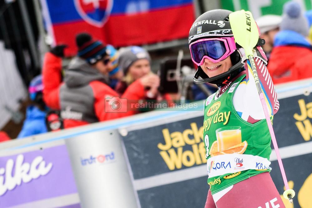 January 7, 2018 - Kranjska Gora, Gorenjska, Slovenia - Frida Hansdotter of Sweden in the finish area during the Slalom race at the 54th Golden Fox FIS World Cup in Kranjska Gora, Slovenia on January 7, 2018. (Credit Image: © Rok Rakun/Pacific Press via ZUMA Wire)
