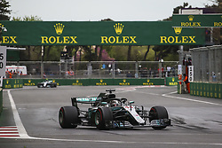 April 29, 2018 - Baku, Azerbaijan - HAMILTON Lewis (gbr), Mercedes AMG F1 Petronas GP W09 Hybrid EQ Power+, BOTTAS Valtteri (fin), Mercedes AMG F1 Petronas GP W09 Hybrid EQ Power+, action during the 2018 Formula One World Championship, Grand Prix of Europe in Azerbaijan from April 26 to 29 in Baku - Photo Sebastiaan Rozendaal / DPPI  Motorsports: World Championship; 2018; Grand Prix Azerbaijan, Grand Prix of Europe, Formula 1 2018  (Credit Image: © Hoch Zwei via ZUMA Wire)