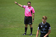 Match referee Nick Waldron in the Handa Premiership football match, Hawke's Bay United v Waitakere United, Bluewater Stadium, Napier, Sunday, December 20, 2020. Copyright photo: Kerry Marshall / www.photosport.nz