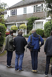 © Licensed to London News Pictures. 05/09/2016. London, UK. Media wait at the house of Keith Vaz MP in north London.  A Sunday newspaper has printed allegations that Mr Vaz met with male prostitutes at his flat.  He has stood down from the chairmanship of the Home Affairs Select Committee. Photo credit: Peter Macdiarmid/LNP