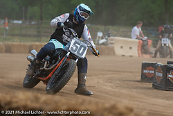 Number 50 Hammer VanScyoc racing on the Fist City Flat Track at the Tennessee Motorcycles and Music Revival at Loretta Lynn's Ranch. Hurricane Mills, TN, USA. Saturday, May 22, 2021. Photography ©2021 Michael Lichter.
