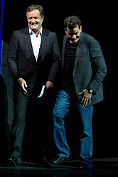 © Licensed to London News Pictures. 19/06/2016. PIERS MORGAN and US actor CHARLIE SHEEN take part in An Audience With Charlie Sheen giving a rare insight into his career and private life.  London, UK. Photo credit: Ray Tang/LNP
