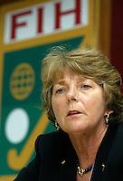 Voorzitter Wereld Hockeybond, de FIH, de Nederlandse Els van Breda Vriesman
