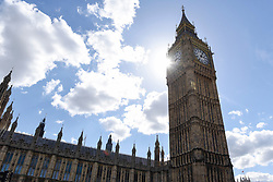 © Licensed to London News Pictures. 18/04/2017. London, UK. The Palace of Westminster Big Ben are seen on the day when Theresa May, Prime Minister, announced that a general election will be called on 8 June 2017. Photo credit : Stephen Chung/LNP