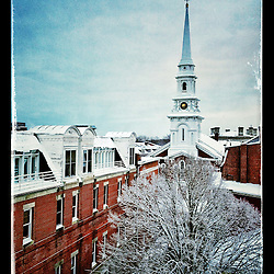 """The North Church in Portsmouth, New Hampshire's Market Square. iPhone photo - suitable for print reproduction up to 8"""" x 12""""."""