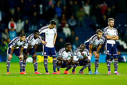 West Brom look on nervously during the penalty shootout - Photo mandatory by-line: Rogan Thomson/JMP - 07966 386802 - 26/08/2014 - SPORT - FOOTBALL - The Hawthorns, West Bromwich - West Bromwich Albion v Oxford United - Capital One Cup Round 2.