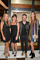 Left to right, JESSICA SIMON, ?, ARA VARTANIAN and ZARA VALMORBIDA at a party to celebrate the opening of the jeweller Ara Vartanian's Flagship Store 44 Bruton Place, London on 7th September 2016.