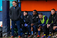 Wycombe Wanderers manager Gareth Ainsworth reacts to seeing Luton scores a goal during the EFL Sky Bet League 1 match between Luton Town and Wycombe Wanderers at Kenilworth Road, Luton, England on 9 February 2019.