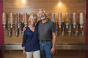 Lula's Frozen Yogurt and Treats owners Bill and Betsy Scanlan, photographed Tuesday, May 21, 2013 in Louisville, Ky. (Photo by Brian Bohannon)