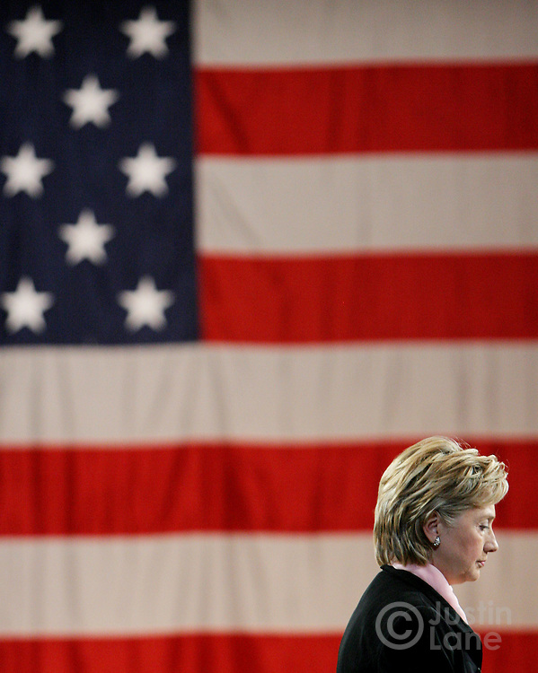 Democratic presidential candidate Senator Hillary Clinton (D-NY) speaks during an event, called a town hall conversation, at a hotel in New York, New York on 04 June 2007.