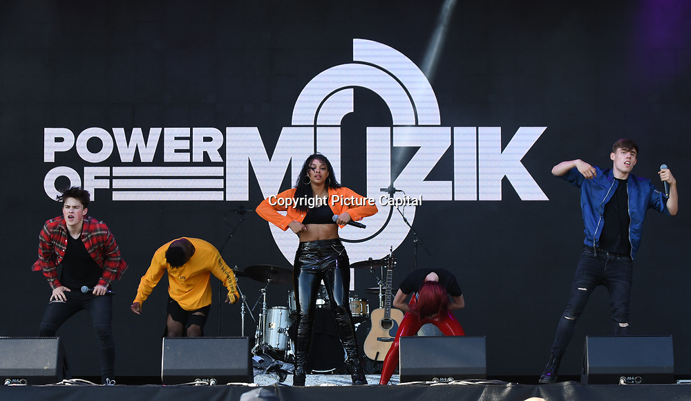 Power of Muzik perform live at Kew The Music Festival 2018 on 10th July 2018.