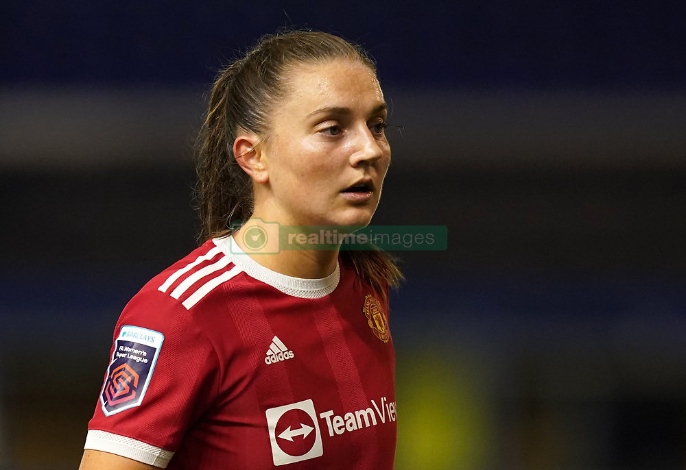 Manchester United's Vilde Boe Risa during the FA Women's Super League match at St. Andrew's, Birmingham. Picture date: Sunday October 3, 2021.