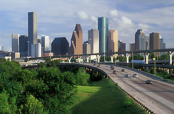 Houston, Texas skyline from the north in the afternoon.