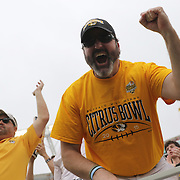 ORLANDO, FL - JANUARY 01:  A Missouri fans screams during the Buffalo Wild Wings Citrus Bowl between the Minnesota Golden Gophers and the Missouri Tigers at the Florida Citrus Bowl on January 1, 2015 in Orlando, Florida. (Photo by Alex Menendez/Getty Images) *** Local Caption ***