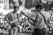 Lou Cotterill and Rob Ellis of British indie-rock band Cassia at the Open Ohr Festival