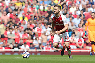 Arsenal defender Shkodran Mustafi (20) during the Premier League match between Arsenal and West Ham United at the Emirates Stadium, London, England on 22 April 2018. Picture by Bennett Dean.