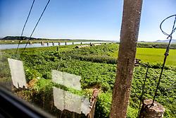 August 14, 2017 - ³Â¯ÃÃ, ³Â¯ÃÃ, China - North Korea (EDITORIAL USE ONLY. CHINA OUT) ..The bridge in North Korea (Credit Image: © SIPA Asia via ZUMA Wire)